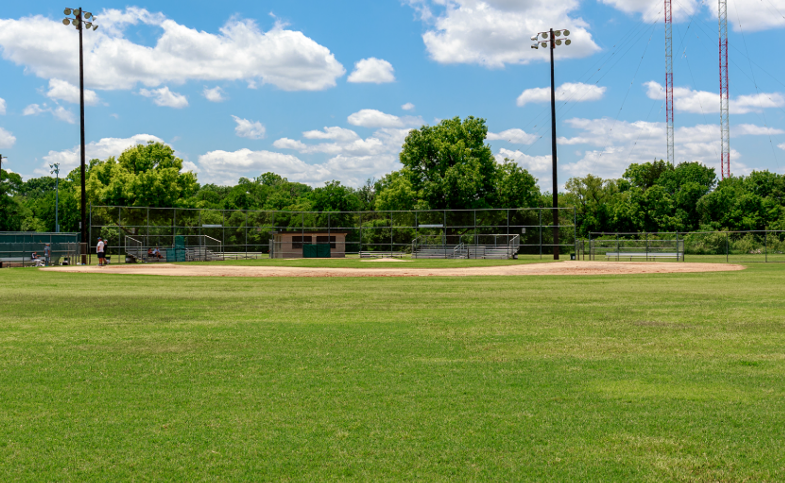 Rick Oden Park, grass, baseball/softball diamond