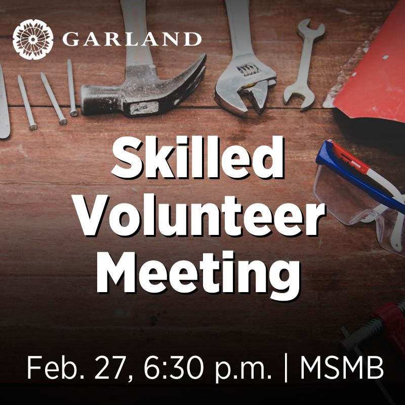 skilled volunteer meeting, feb. 27, 6:30 p.m. | MSMB