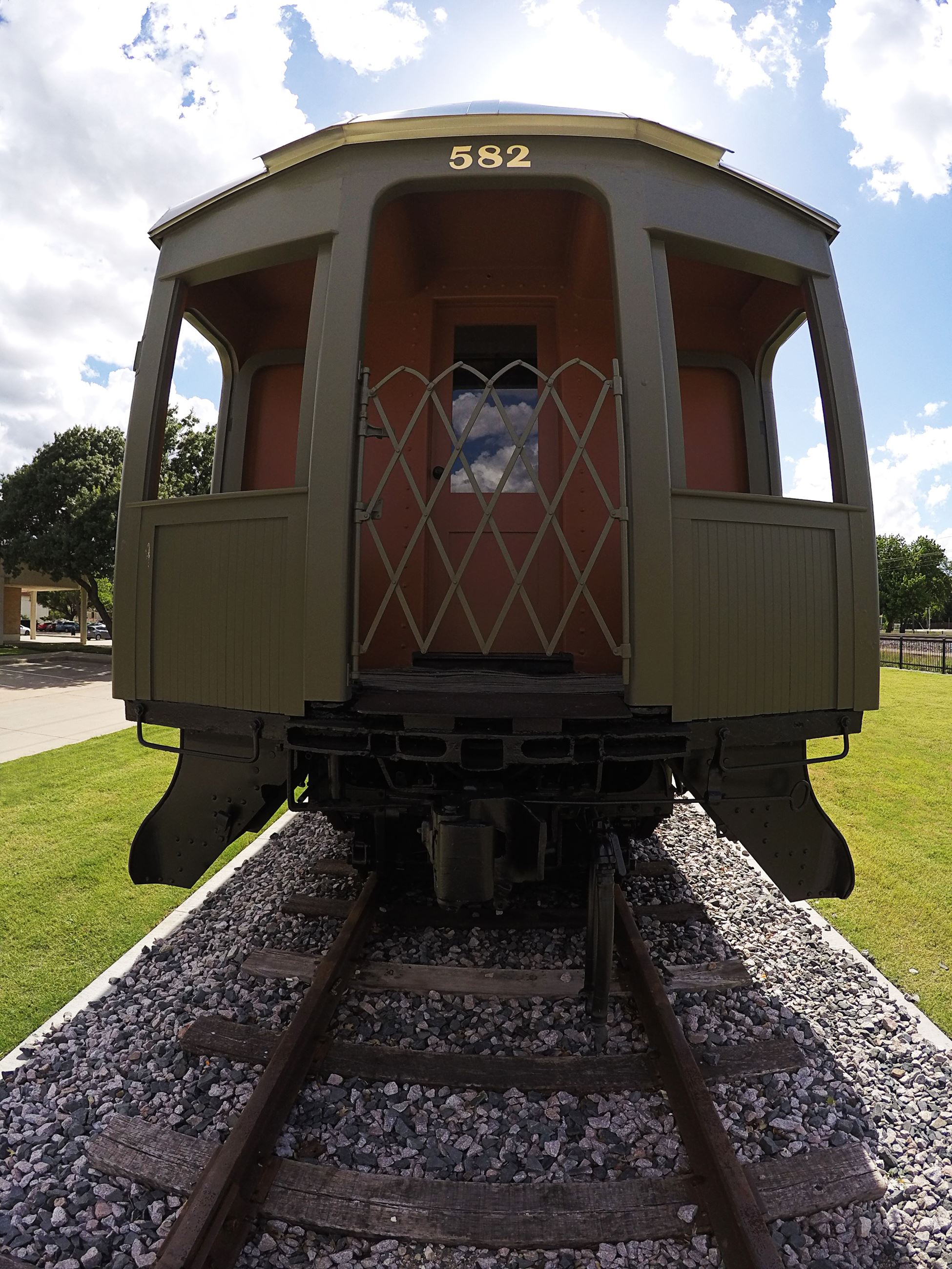 The back end of the Pullman Coach Car.
